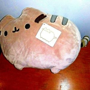 "GUND Pusheen Cat Deluxe Plush Toy Pillow 12"" NWT"